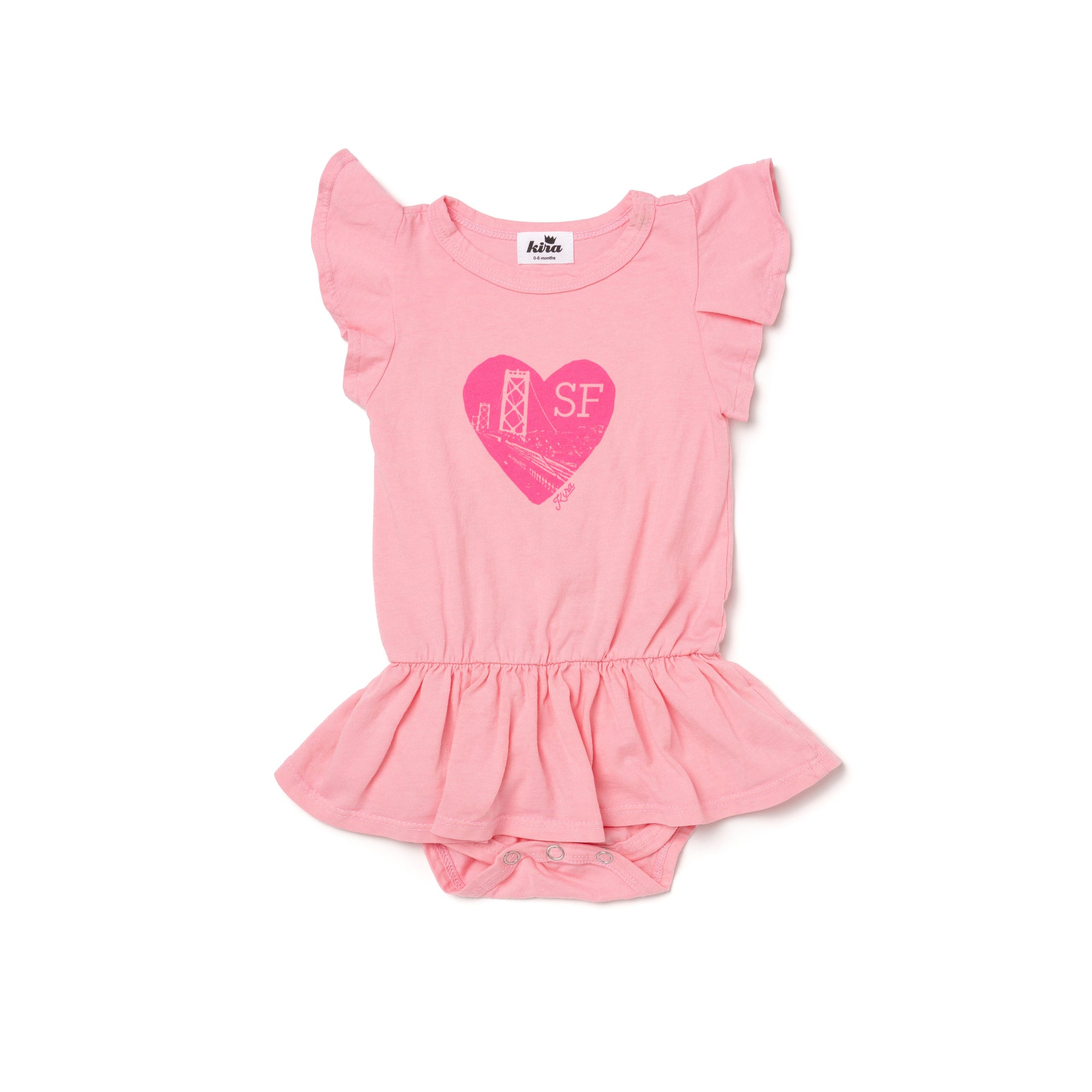 SF Graphic Dress Onesie, Sweetheart
