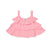 Cotton Gauze Ruffle Swing Tank, Sweetheart