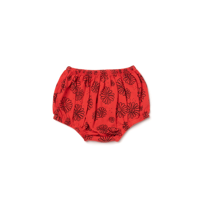 Daisies Print Bloomers, Fluro Coral
