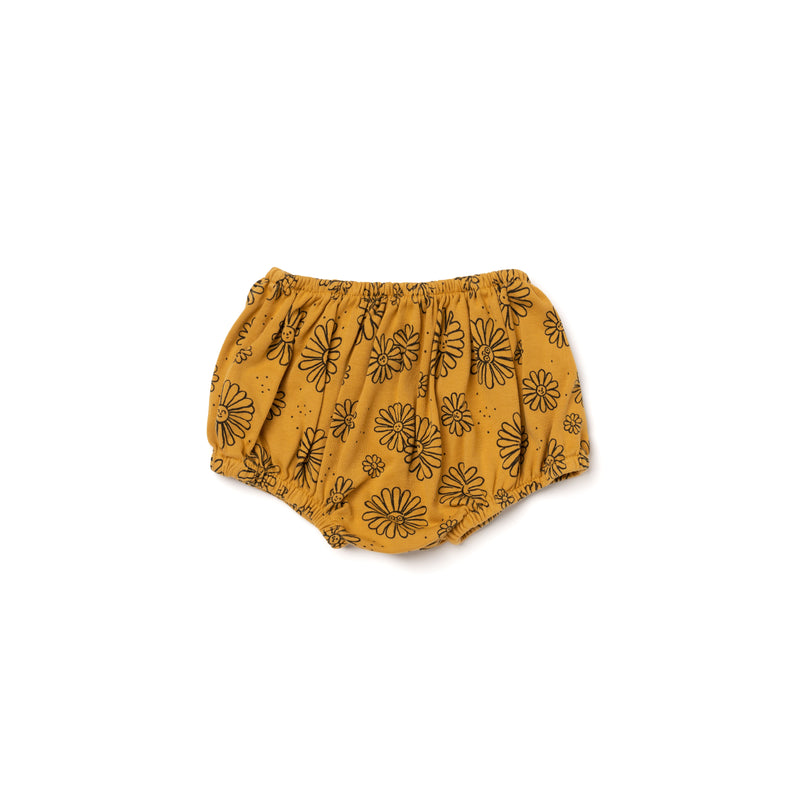 Daisies Print Bloomers, Golden