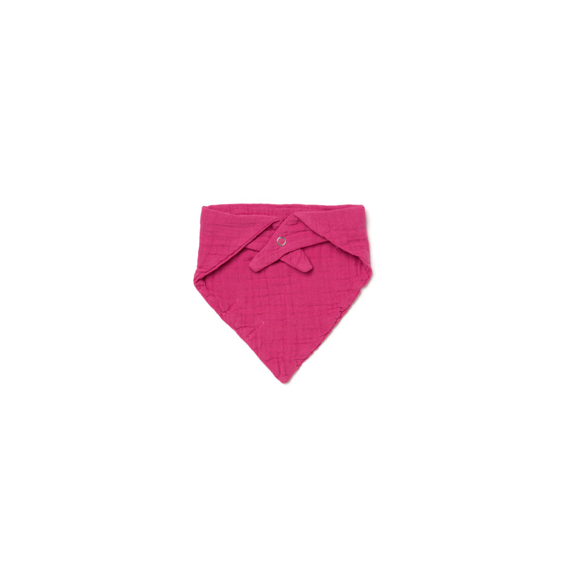 Cotton Gauze Bandana Bib, Rose Pink