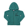 Aloha Jaws Graphic Zip Hooded Sweatshirt, Dark Turquoise