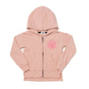 Daisy Graphic Zip Hooded Sweatshirt, Blush
