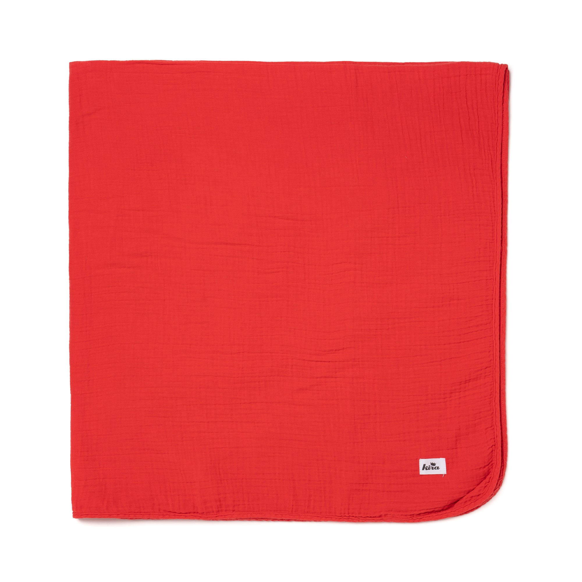 "Cotton Gauze Swaddle Blanket 47"" x 47"", Fluro Coral"