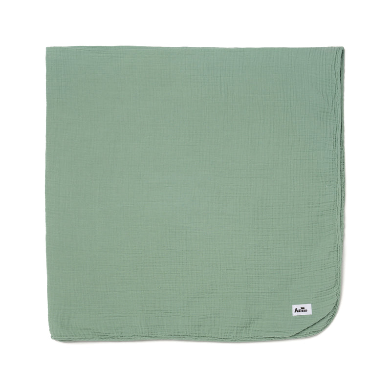 "Cotton Gauze Swaddle Blanket 47"" x 47"", Celadon"