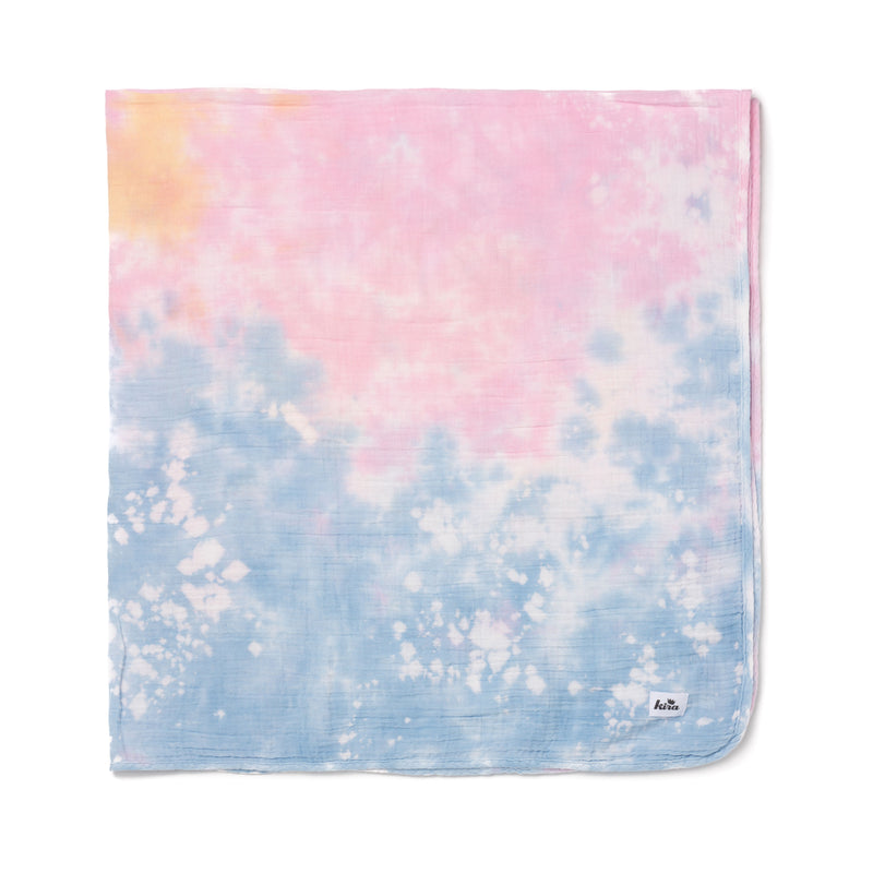 "Shaved Ice Tie Dye Swaddle Blanket 47"" x 47"""