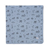 "Surf Shark Print Swaddle Blanket 47"" x 47"", Stone Blue"