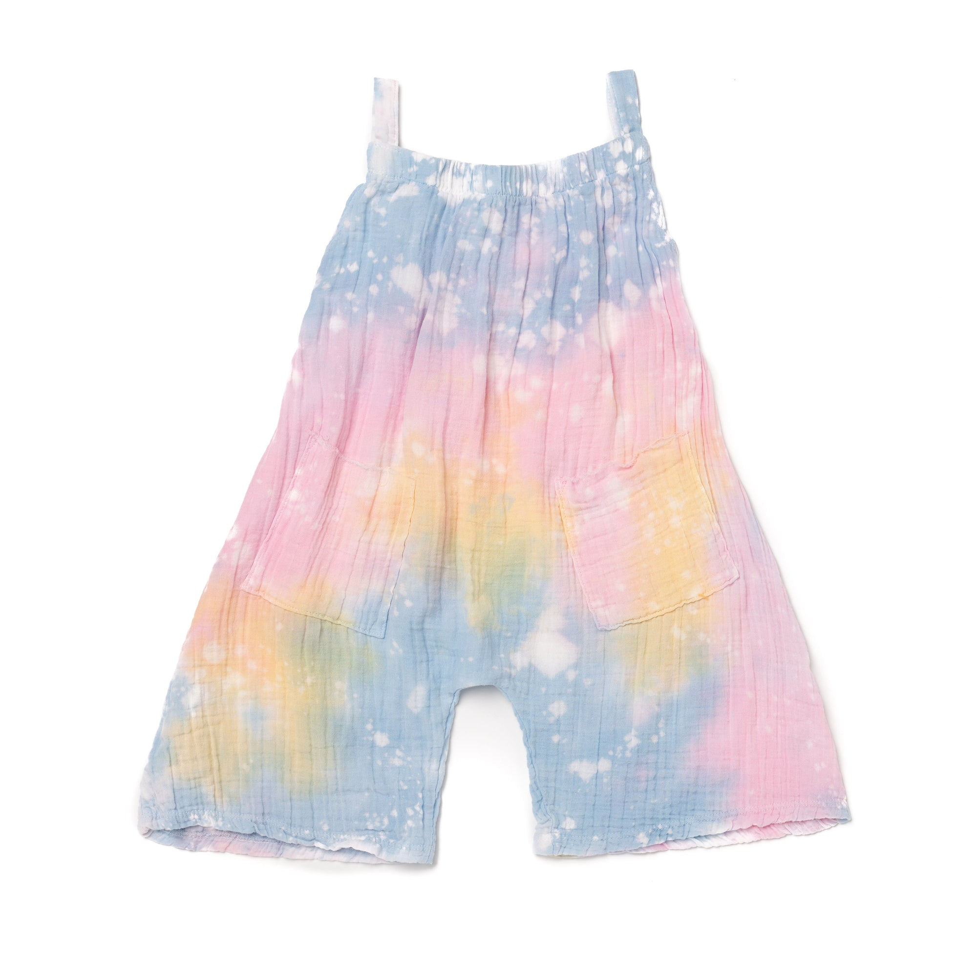Shaved Ice Tie Dye Wide Leg Tank Romper