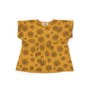 Daisies Print Boxy Top, Golden