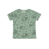 Octopus Print Short Sleeve T-shirt, Celadon