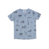 Surf Shark Print Short Sleeve T-shirt, Stone Blue
