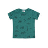 Surf Shark Print Short Sleeve T-shirt, Dark Turquoise