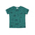 Surf Print Short Sleeve T-shirt, Dark Turquoise