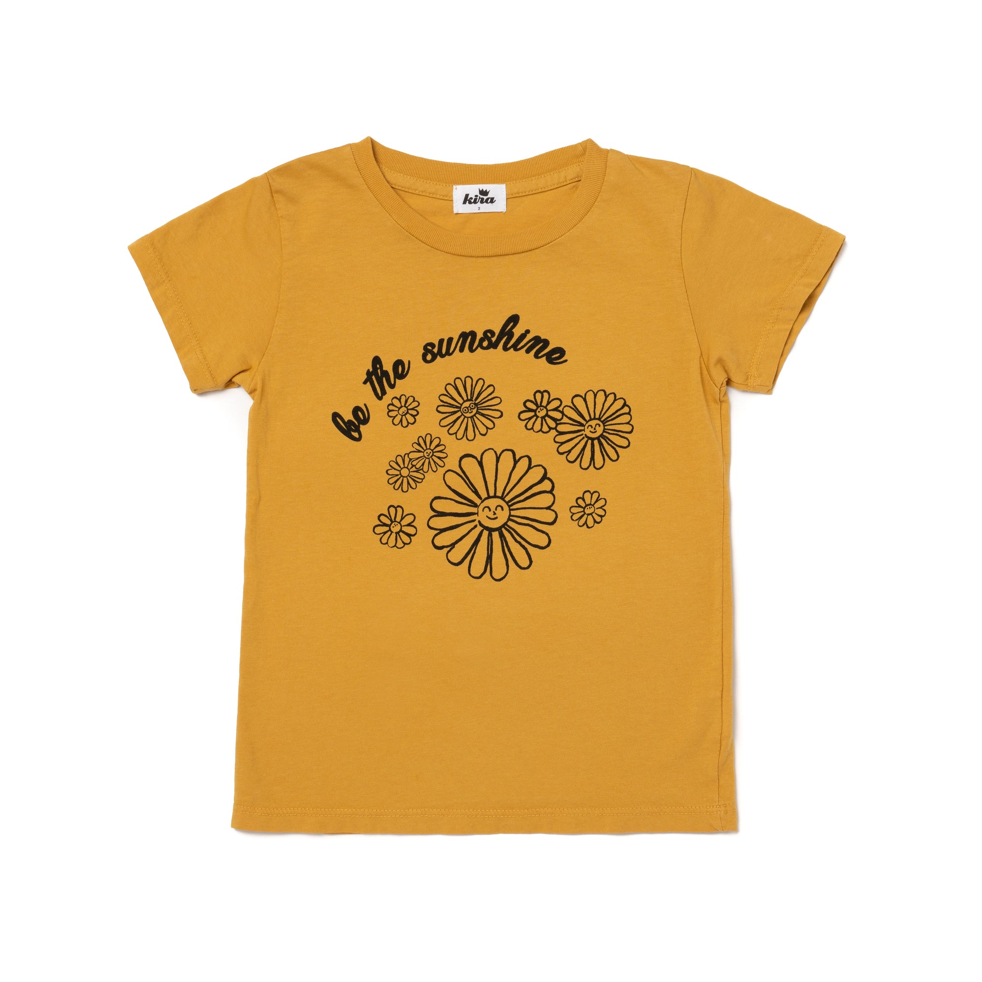 Sunshine Daisies Graphic Short Sleeve T-shirt, Golden