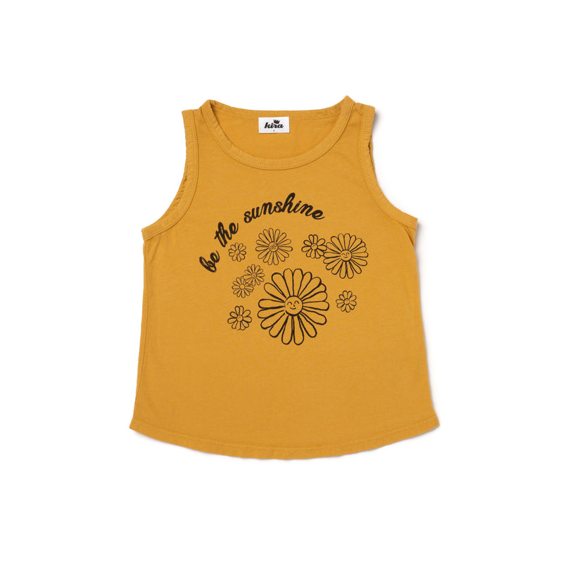 Sunshine Daisies Graphic Unisex Tank, Golden