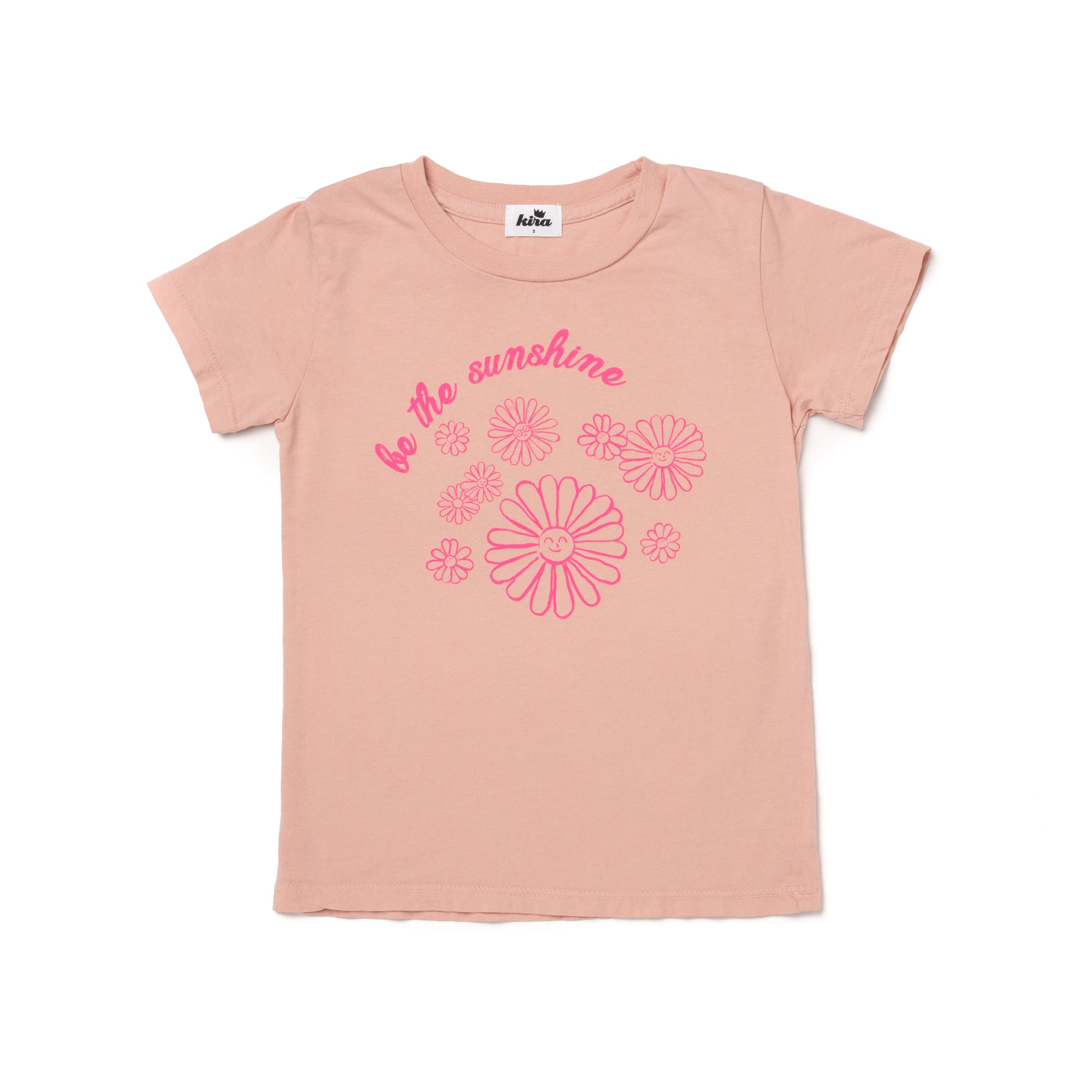 Sunshine Graphic Short Sleeve T-shirt, Blush