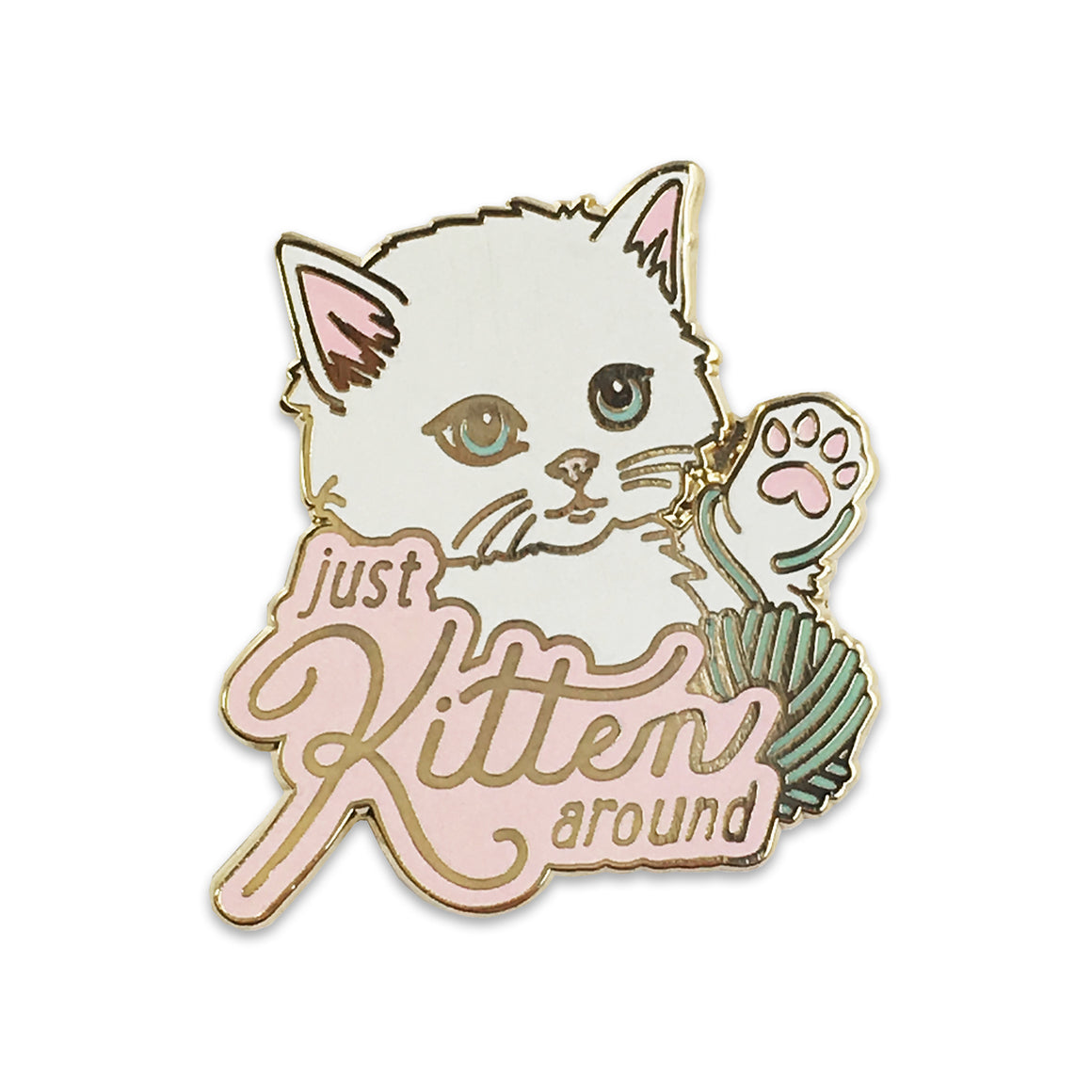 Wildflower + Co.: Just Kitten Around Pin