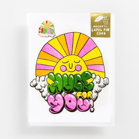 Yellow Owl Workshop: Hugs For You - Lapel Pin Card