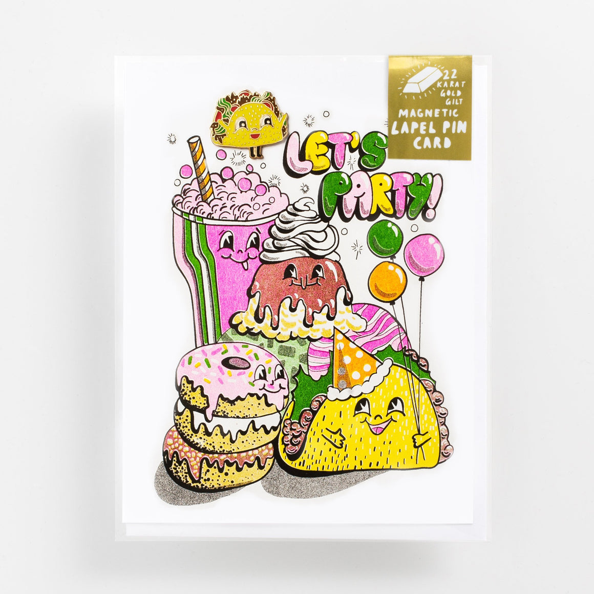 Yellow Owl Workshop: Let's Party - Lapel Pin Card
