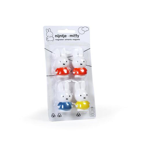 Cool Decor Company: Miffy Magnets, Set of 4 (Red/Blue/Yellow)