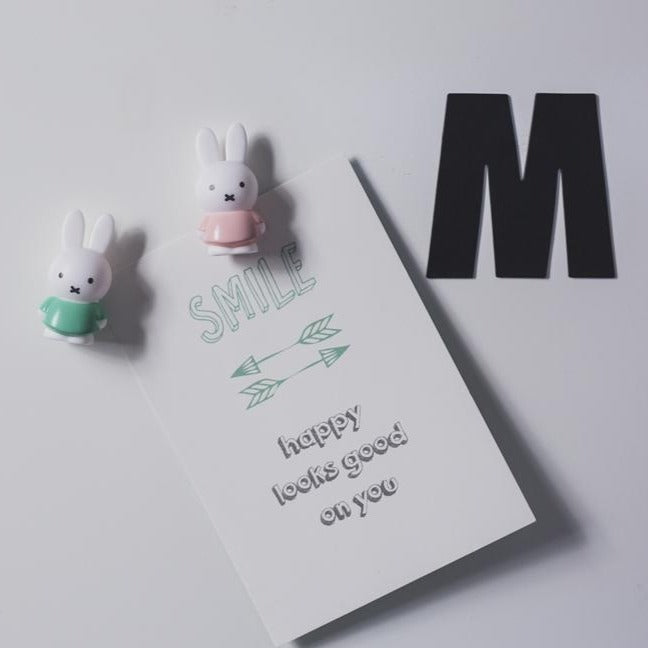 Cool Decor Company: Miffy Magnets, Set of 4 (Soft Pink/Moody Green)