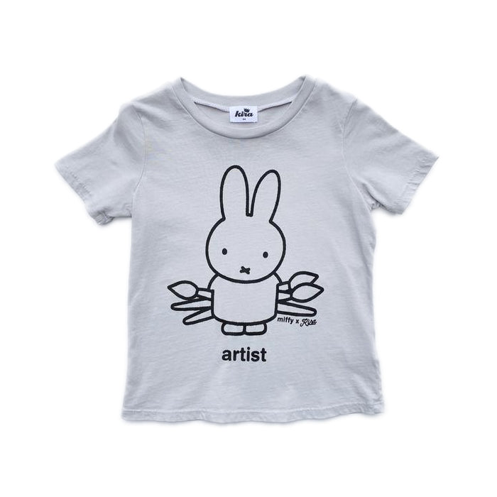 Miffy x Kira Artist T-shirt, Light Grey