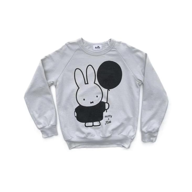 Miffy x Kira Balloon Raglan Sweatshirt, Light Grey