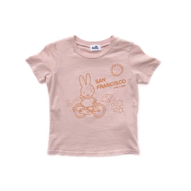 Miffy x Kira Bike SF T-shirt, Blush