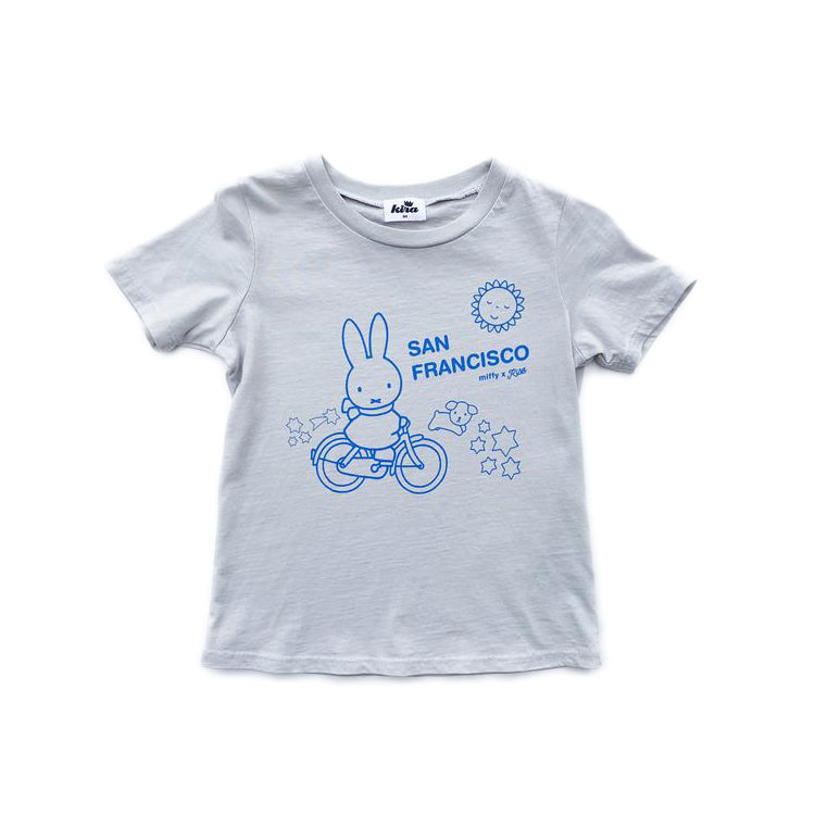 Miffy x Kira Bike SF T-shirt, Light Grey