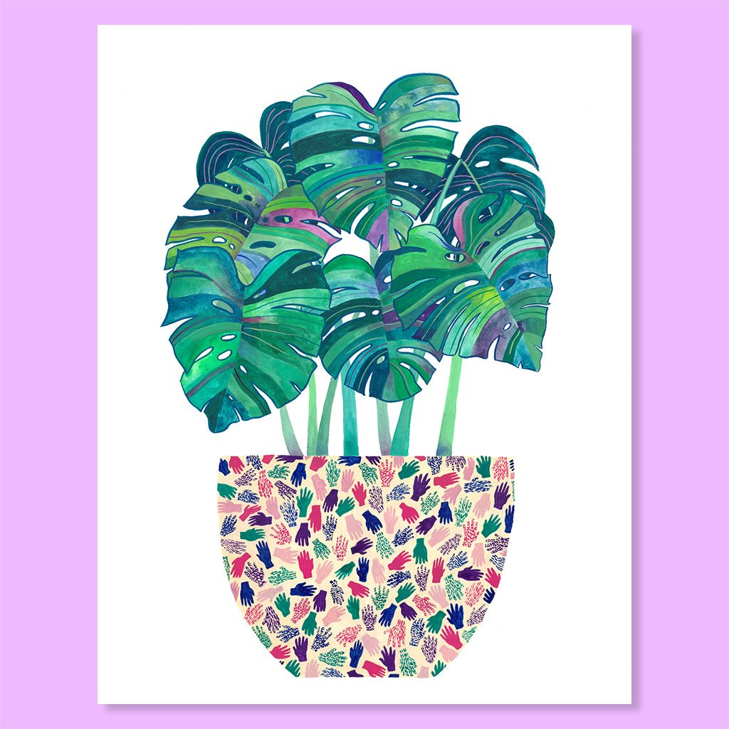 Cactus Club: Monstera Pot Print Print, 8x10