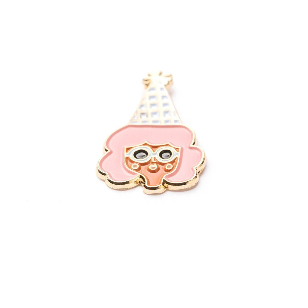 Carolyn Suzuki Goods: Party Girl - Enamel Pin