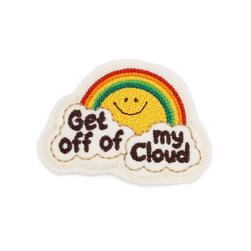 Lucky Horse Press: Get Off Of My Cloud Chain Stitched Patch