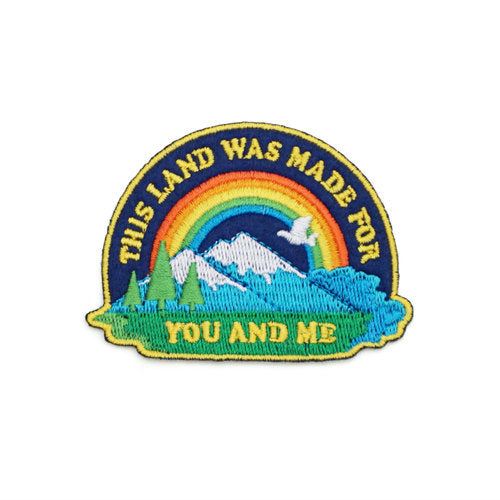 Lucky Horse Press: This Land Is Your Land Embroidered Patch