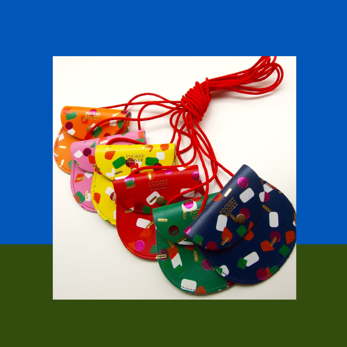 Ark Colour Design: Pocket Money Purse, Tutti Frutti Blue
