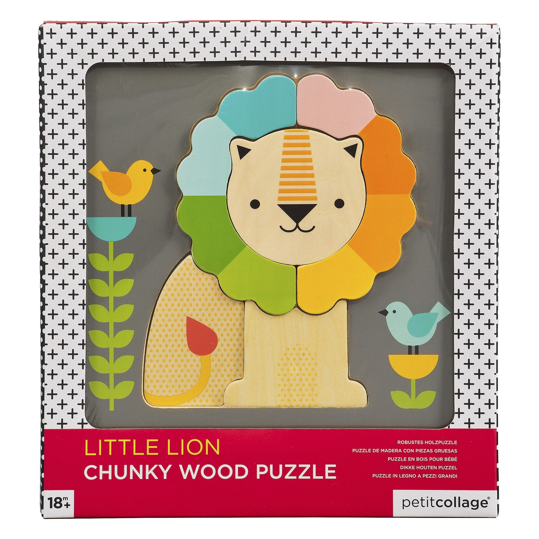 Petit Collage: Little Lion Chunky Wood Puzzle