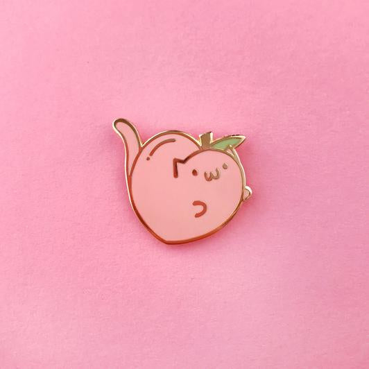 The Pink Samurai: Peachy Kitten Enamel Pin