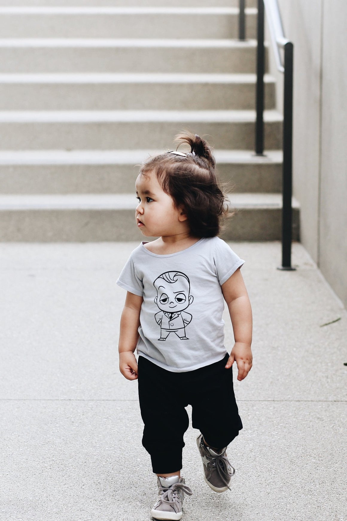 Kira Kids x The Boss Baby: The Boss Graphic T-shirt, Light Grey