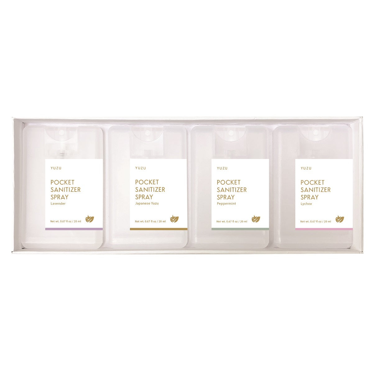 Yuzu Soap: Pocket Sanitizers (Set of 4)