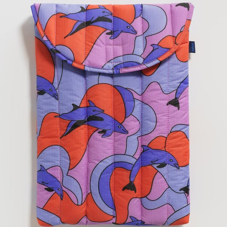 "Baggu: Puffy Laptop Sleeve 16"" - Dolphins"