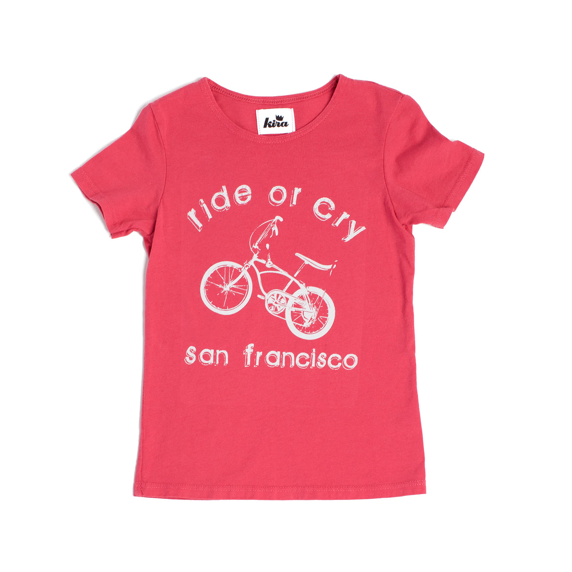 Ride or Cry SF T-shirt, Cherry Red