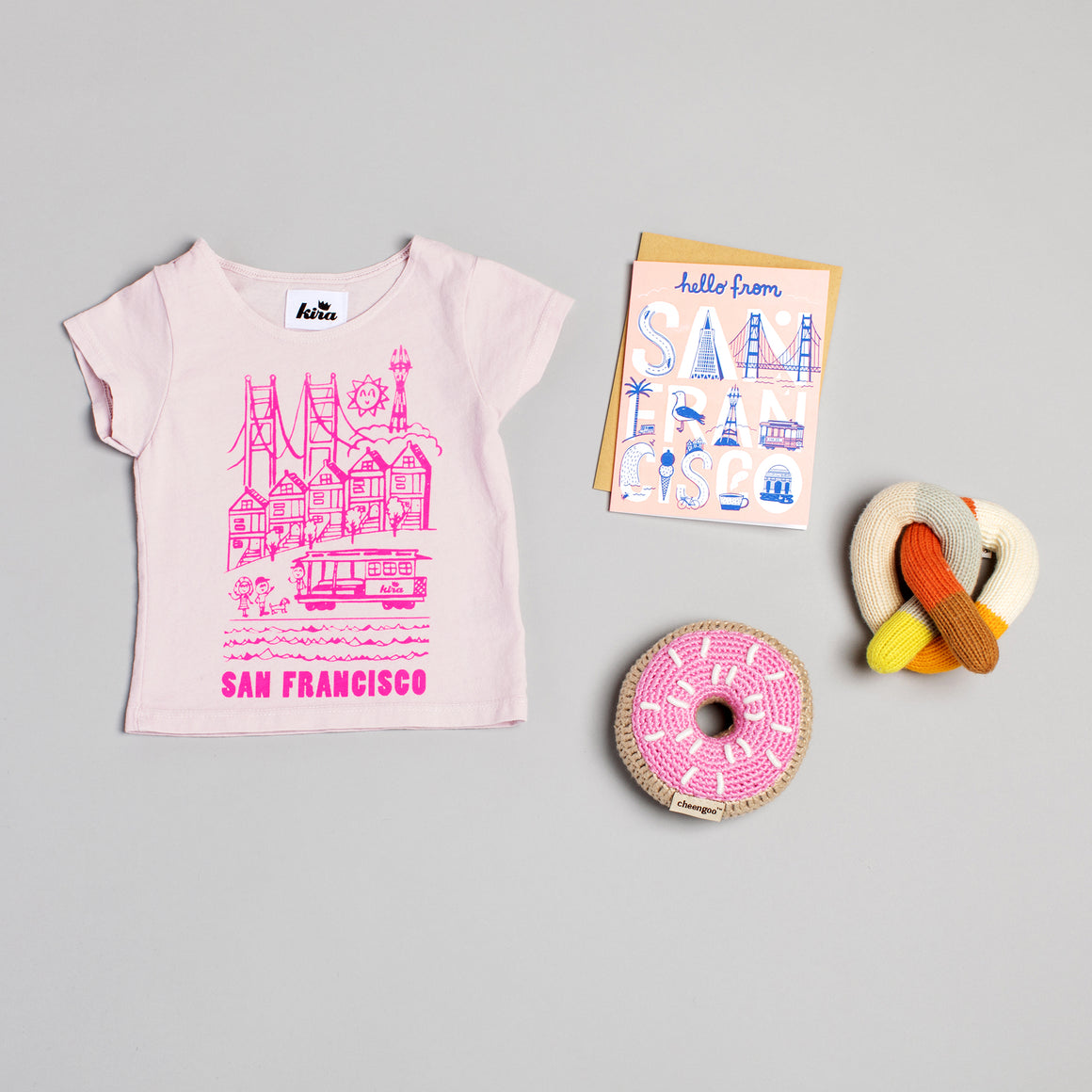 SF Scene T-shirt, Light Pink
