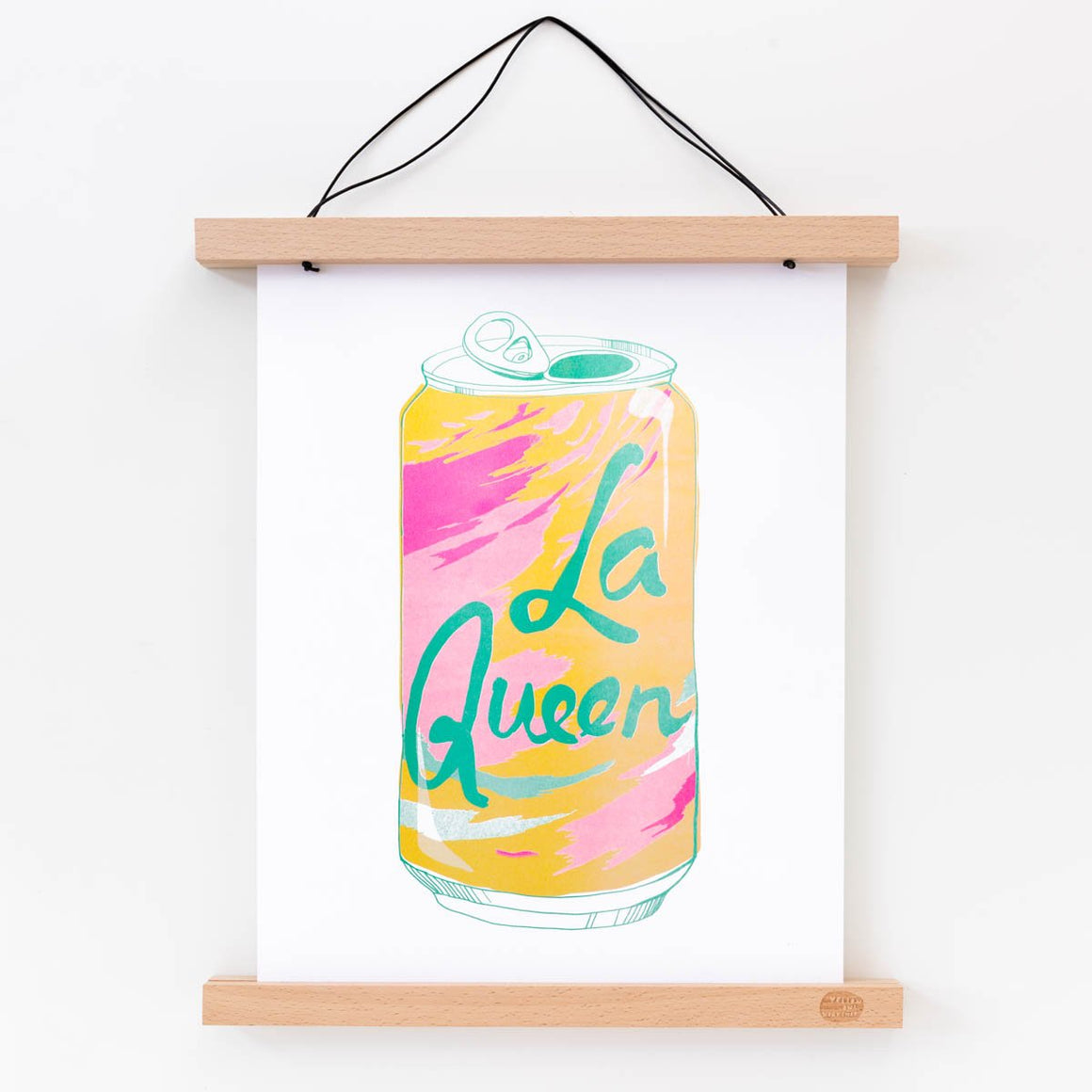 Yellow Owl Workshop: La Queen - Risograph Print