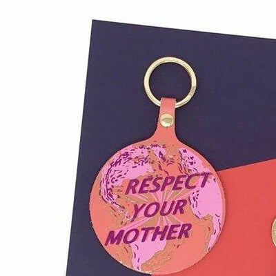 Ark Colour Design: Respect Your Mother Leather Keychain