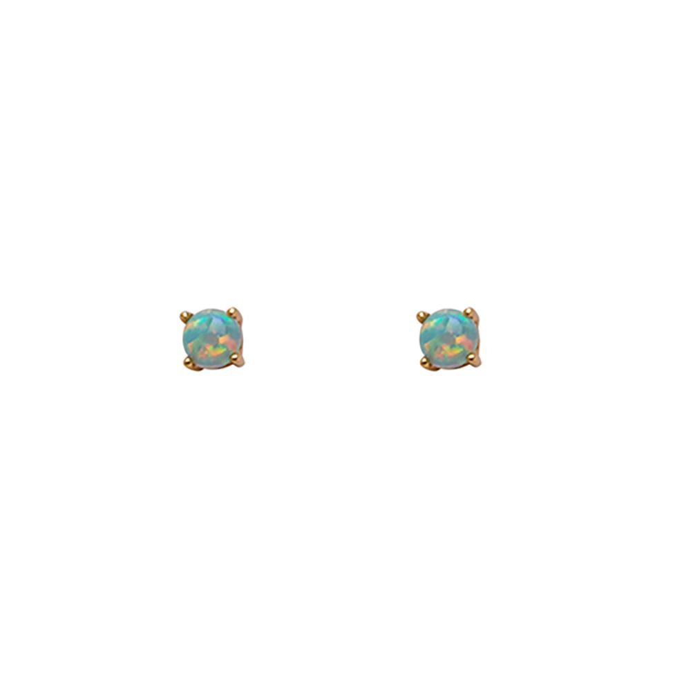 Thesis of Alexandria: Mint Green Opal Prong Studs