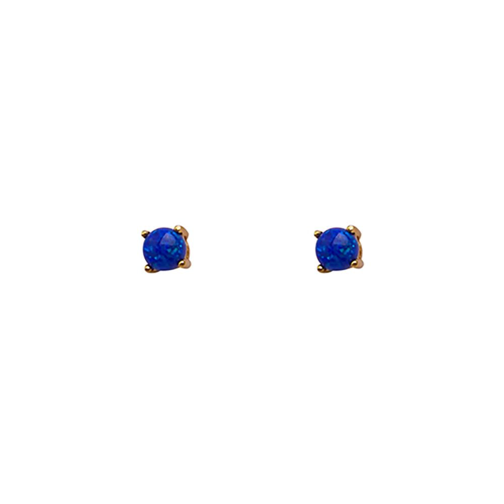 Thesis of Alexandria: Sapphire Blue Opal Prong Studs