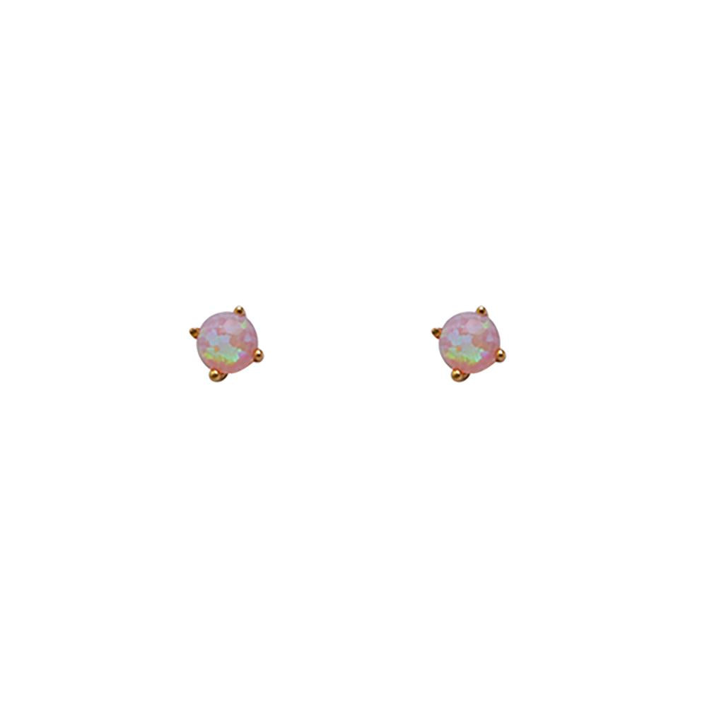 Thesis of Alexandria: Millennial Blush Pink Opal Prong Studs