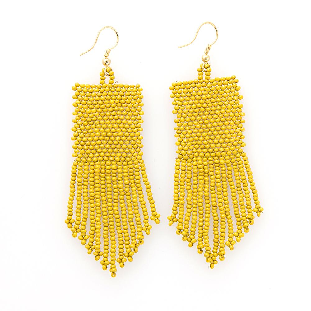 Ink + Alloy: Citron Seed Bead Earrings