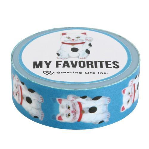 Greeting Life America: My Favorite Washi Tape, Lucky Cat