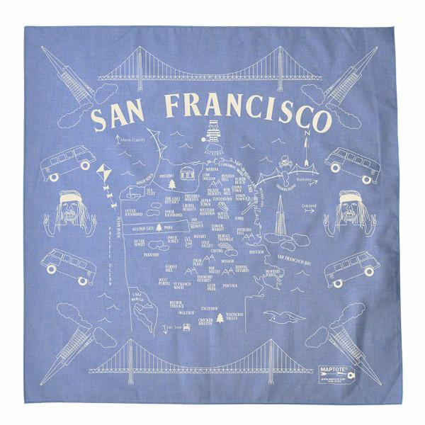 Maptote: San Francisco Bandana, Chambray