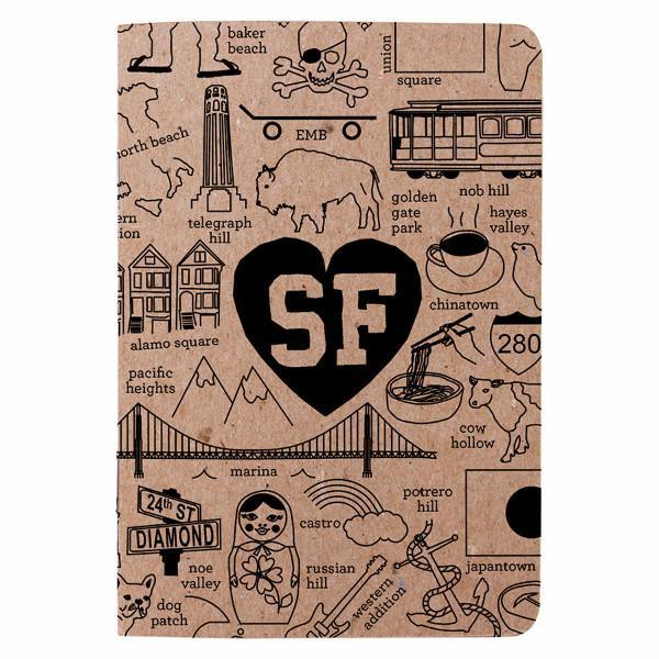Maptote: San Francisco Hoods Booklet, Natural